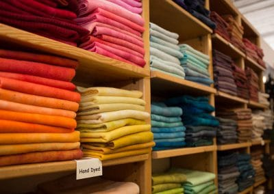 Hand Dyed Wool Fabric at Mill Village Wool Mercantile
