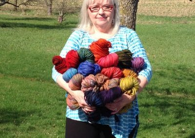 Jeannie with Hand Dyed Rug Hooking Yarn/Mill Village Wool Mercantile