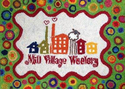 Mill Village Wool Mercantile Logo Rug